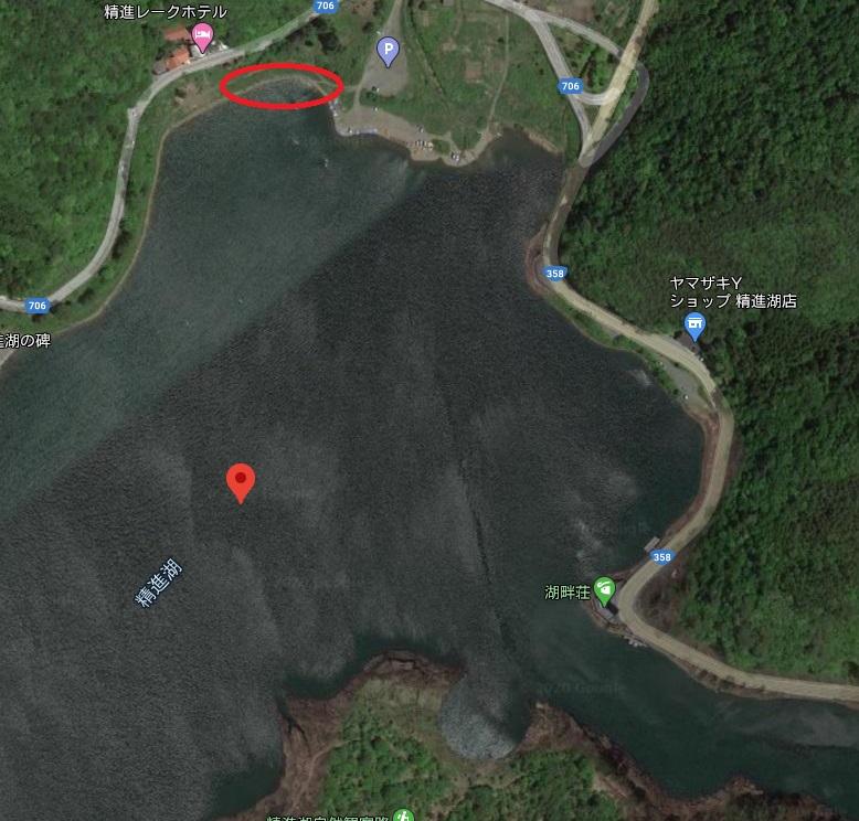 精進湖バス釣りポイント