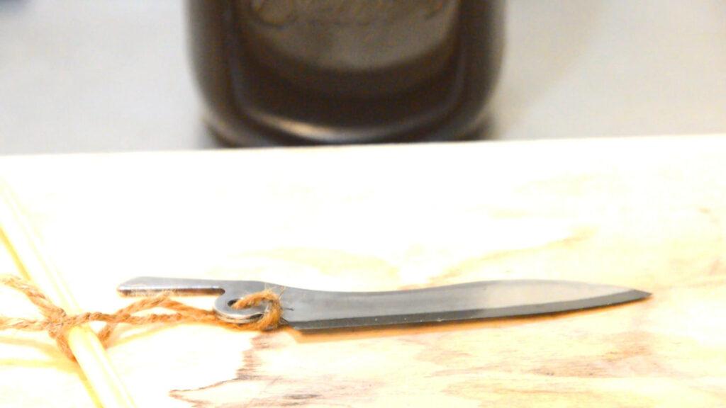 フェデカナイフのナイフ黒錆加工